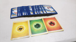 POKEMON ENERGY CARDS (GRASS-FIRE-ELECTRIC) QTY 85