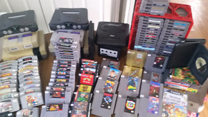 Nes snes game cube  sega wii playstation 123. Games and systems