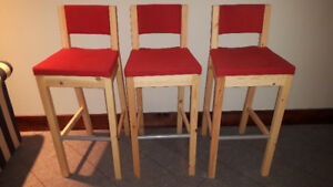 Pine Pub Height Chairs