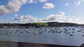 Double bedroom with view of Falmouth harbour