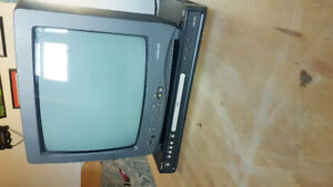 Small Colour TV and DVD player combo