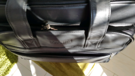 Kenneth Cole Leather Overnight Bag