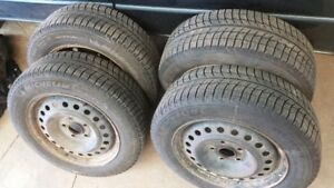 Selling 4 Michelin X Ice Winter tires 265/60 R16 and steel rims