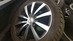 17 inch rims with like new winter tires