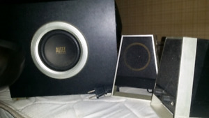 Aux Speakers with sub