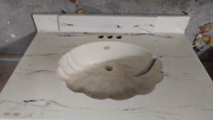 Shell style design bathroom counter top sink