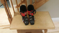 Red and Black Atomic Hawx Ski Boots