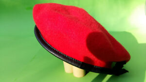New: Vibrant Red Beret of Royal Military Police