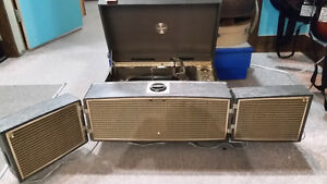 vintage Motorola portable tube record player