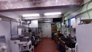 commercial kitchen spaced shared with one other person