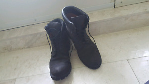 Black Timberland 6 Inch Premium Nubuck Leather Shoes Size 12.5