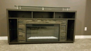 """70"""" fireplace tv stand"""