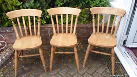 WOODEN SOLID CHAIRS VGC