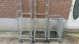 2 Large and 2 small Food Tray Trolley