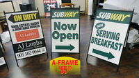 A-Frame Display - Attract Customers to Your Business!