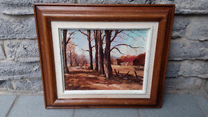 OIL PAINTING FALL LANDSCAPE THYS PIENING