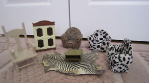 Doll house wooden furniture ( for 8'' to 12'' doll)