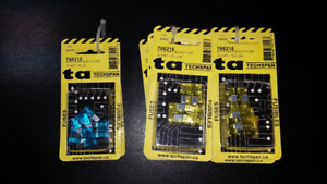 15 AMP and 20 AMP Car or Auto blade Fuses (New 5 per Pack)