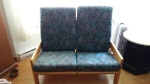 Love seat 2 places ajustables individuellement couleur bleu