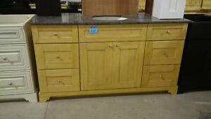 "60"" Solid Wood Vanity Base on Super Clearance!"
