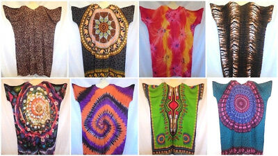 Kaftan Strandkleid Tunikakleid Tunika Kleid Batik Free Size Einheitsgröße ()