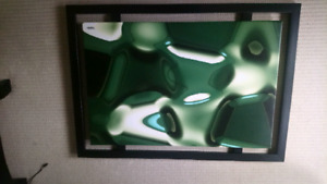 Black and green Wall frame