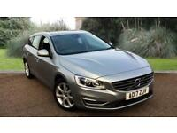 Volvo V60 2.0TD ( 190bhp ) Geartronic 2017MY D4 SE Lux Nav ELECTRIC SILVER