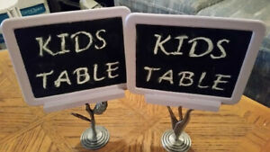 Wedding Item - Chalkboard Double Sided Table Signs