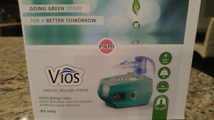 Pari Vios Nebulizer - Used Pump/All New, Sealed bag Attachments