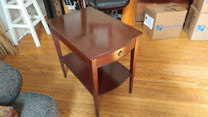 Two Cherry Wood End Tables