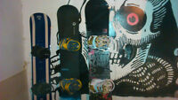 Snowboards & gear mostly new or like new condition