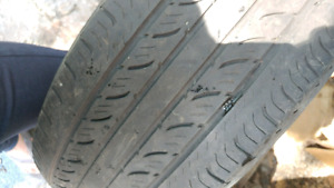 4 summer tires without rim in good condition