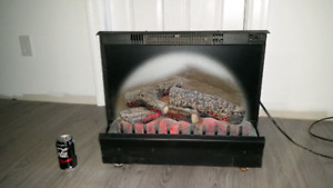 Electric heated fireplace