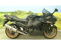 Kawasaki ZZR 1400 ABS 2010** Service History, Two Brothers Exhausts