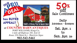 Antiques - Country Barn Antiques Showering you with LOW prices