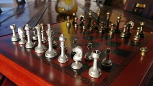 8 Jeux Dans 1 en Etain et Bois