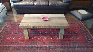 Reclaimed and salvaged solid barn wood coffee table Kitchener / Waterloo Kitchener Area image 3