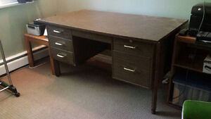 Hardwood writing desk, solid and free