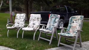 4 lawn chairs for sale