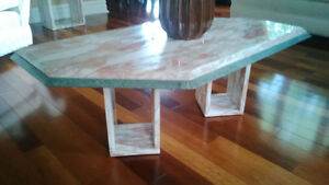 Set of Marble Coffee table and marble Side table