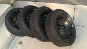 185/60R15 Winter Tires 4X100 Rims Honda Fit Toyota Yaris