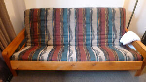 Wood Frame Futon. Barely Used