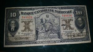 1929 10$ bill in excellent condition for the year only 325$..... London Ontario image 1