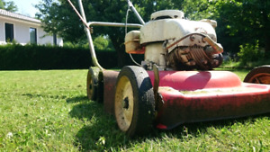 Lawn equipment cleaning service