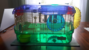 Hamster cage and tubes with all accessories