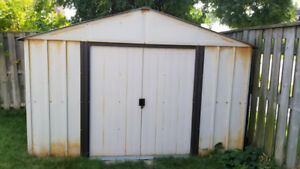 Arrow 10ft x 8ft Metal Garden Storage Shed with FREE floor frame