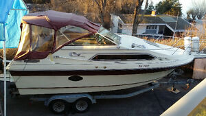 25 foot fully contained cabin cruiser and trailer