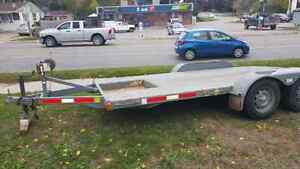 """Flatbed Trailer 16"""" solid steel construction.."""