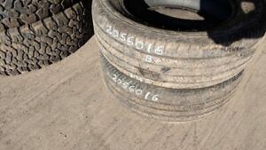 Pair of 2 Continental ContiProContact 205/60R16 tires (75% tread