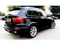 BLACK BMW X5 3.0 30sd M SPORT LOW MILEAGE TWINTURBO BROWN LEATHER CAMERA REMAP